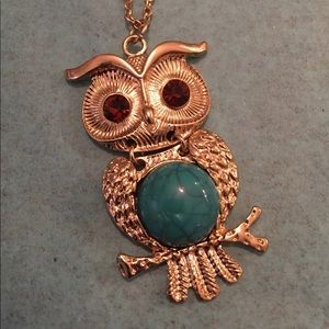Cute Owl necklace and earrings set